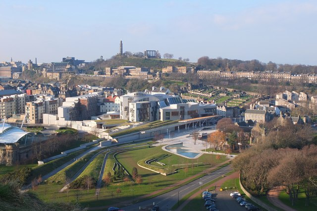 Scottish Parliament Building from Salisbury Crags