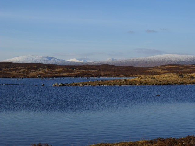 Looking across the north reach of Loch Ba on Rannoch Moor