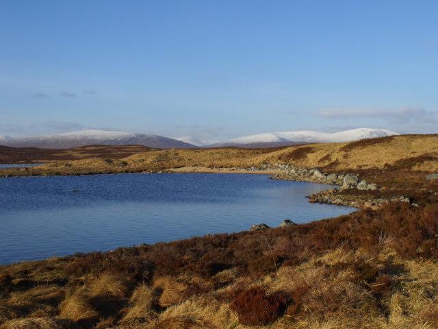 Sheltered bay on north reach of Loch Ba on Rannoch Moor