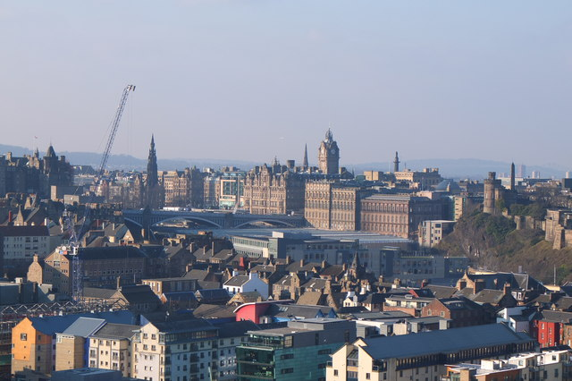 Central Edinburgh from Salisbury Crags