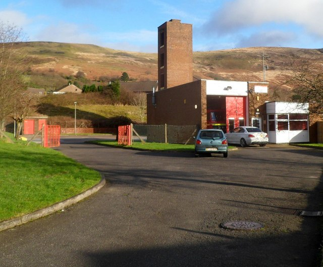 Treorchy fire station and training tower