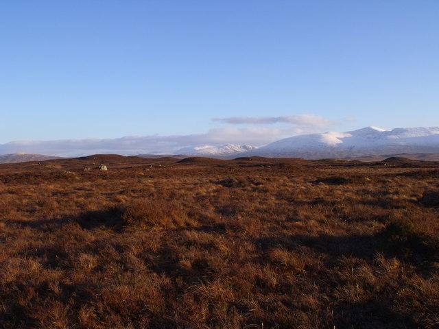 Rannoch Moor from point 328 north-east of Beinn Chaorach