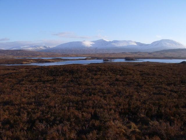 Loch Ba from a low ridge on Rannoch Moor