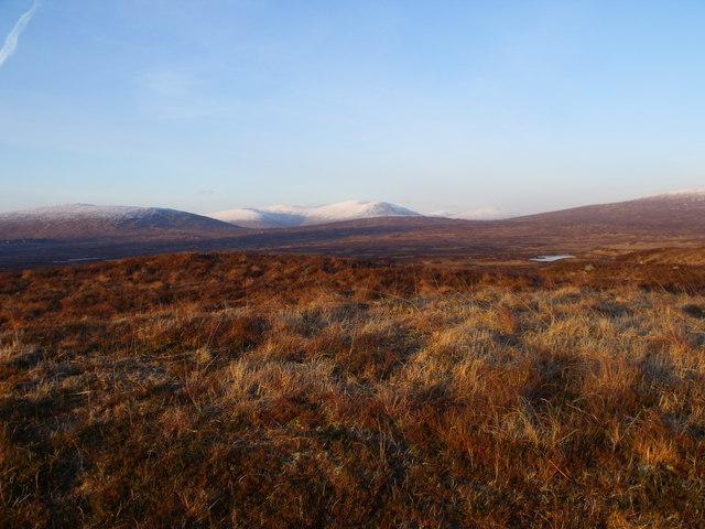 Looking north from low ridgeline near A82 on Rannoch Moor