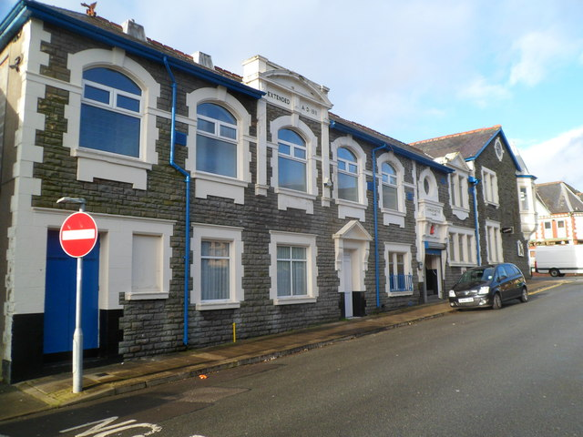 Cardiff Street side of Treorchy Conservative Club