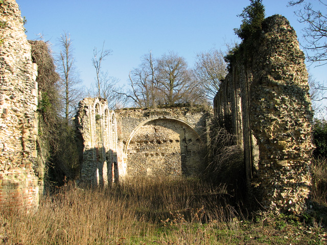 The ruined Cistercian abbey in Sibton