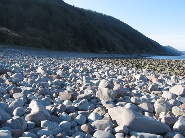 Rocky boulders on Gore Point foreshore
