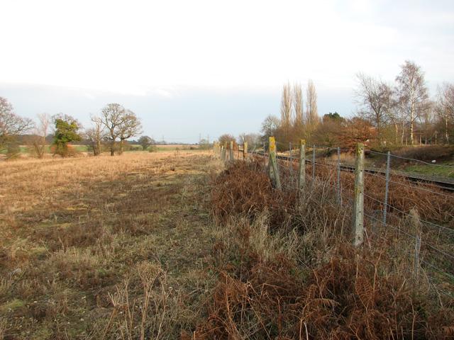 Fence along the railway line at Beversham Crossing, Blaxhall