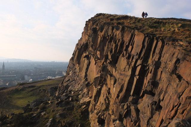 On Salisbury Crags, Edinburgh
