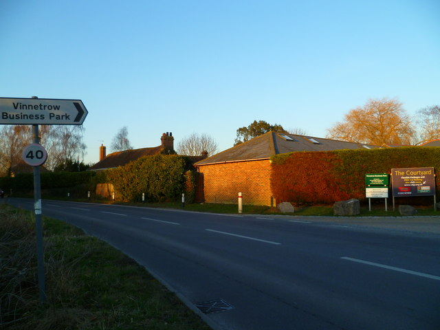 Bend on Vinnetrow Road at the Business Park