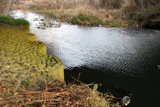 The River Ore flowing under Beversham Bridge, Blaxhall