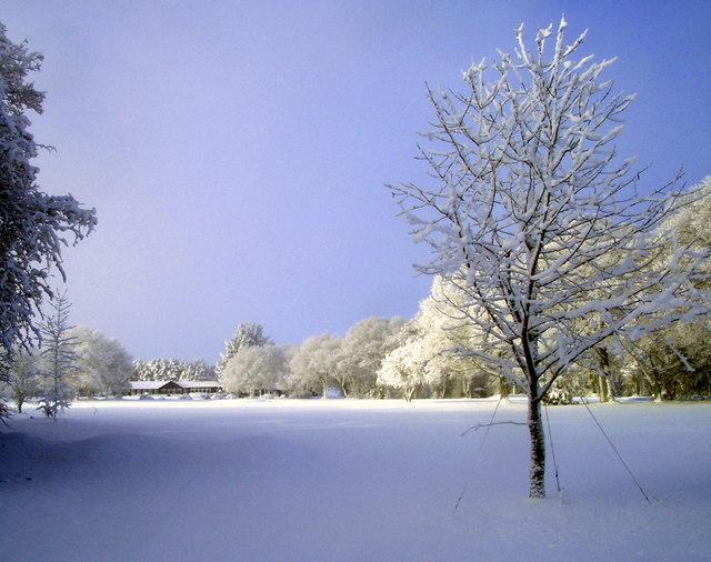 Snow on Huntercombe Golf Course