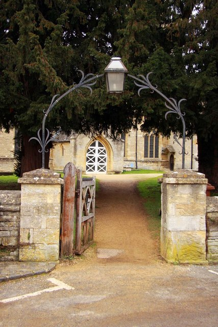 The gate to St Mary's Church in Kidlington
