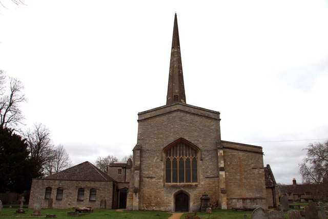 The west end of St Mary's Church in Kidlington
