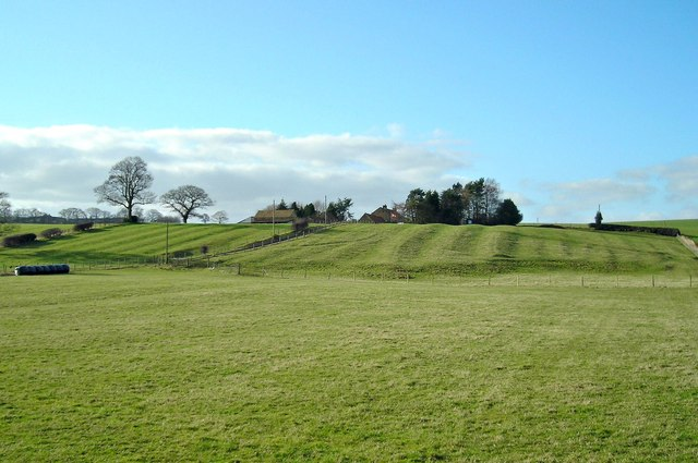 Ridges in fields near Marigold Hall