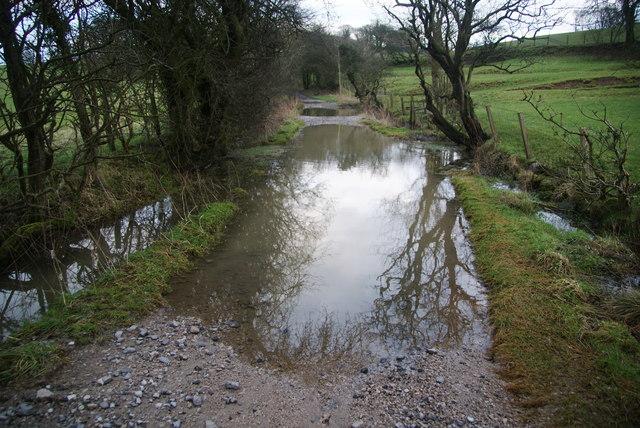 Ingthorpe Lane in flood