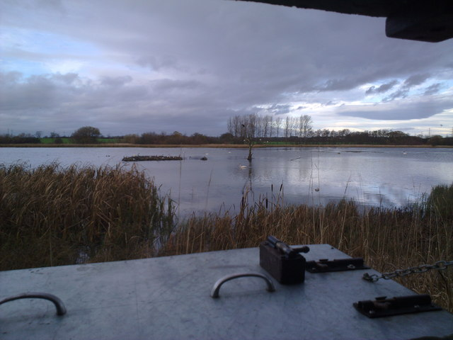 Looking out of the hide at Big Waters