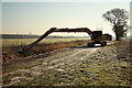 SK9471 : Main Drain dredger by Richard Croft