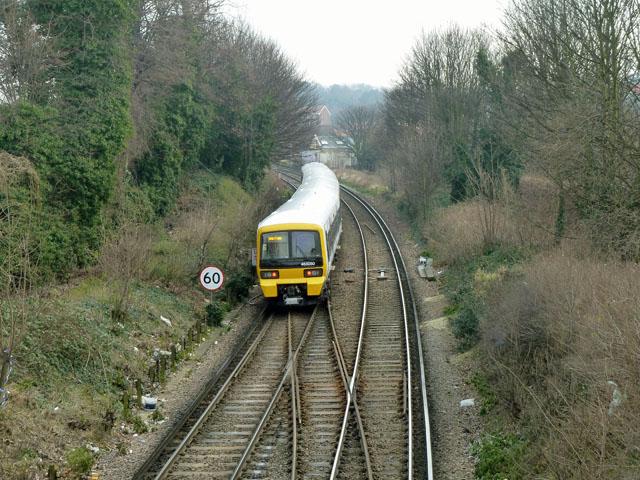 Train leaving Charlton