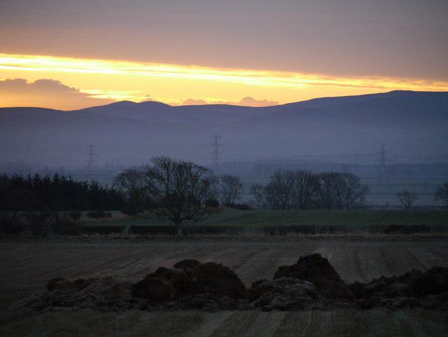 Sunrise Over The Cheviots