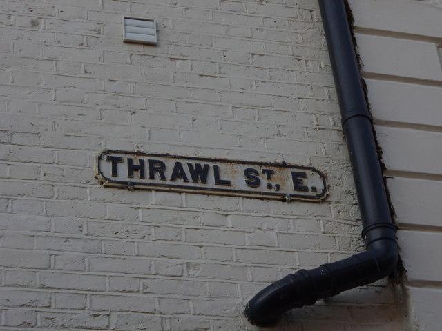 Street sign, Thrawl Street E1
