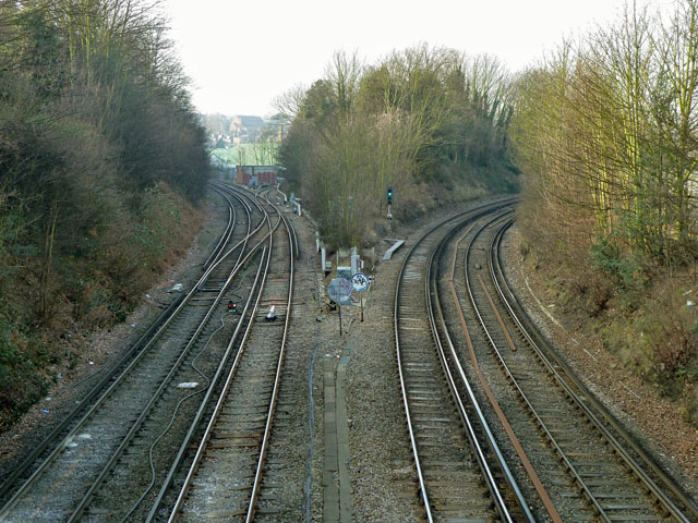 Railway junctions west of Charlton
