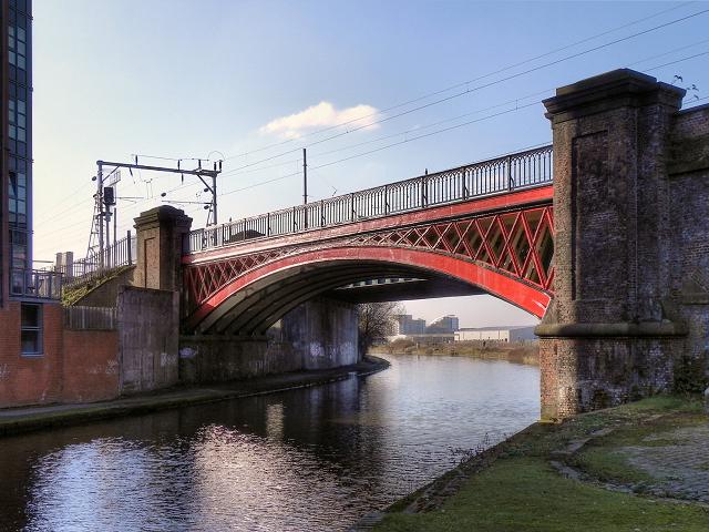Bridgewater Canal, Railway Bridge at Castlefield