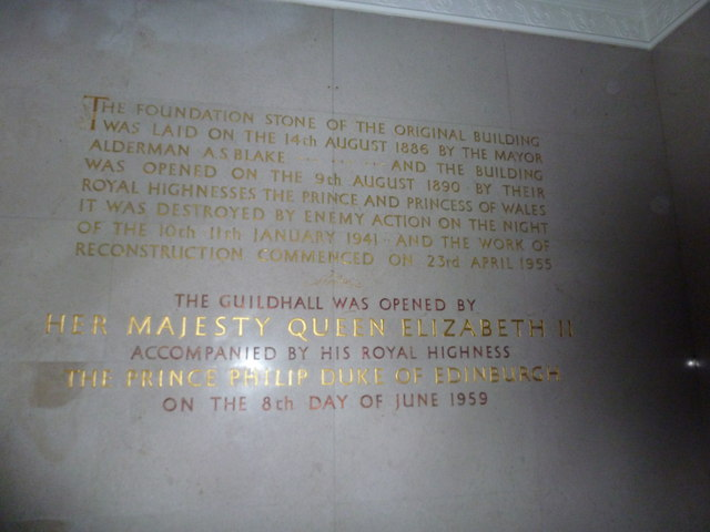 Inside the Guildhall: Foundation Stone