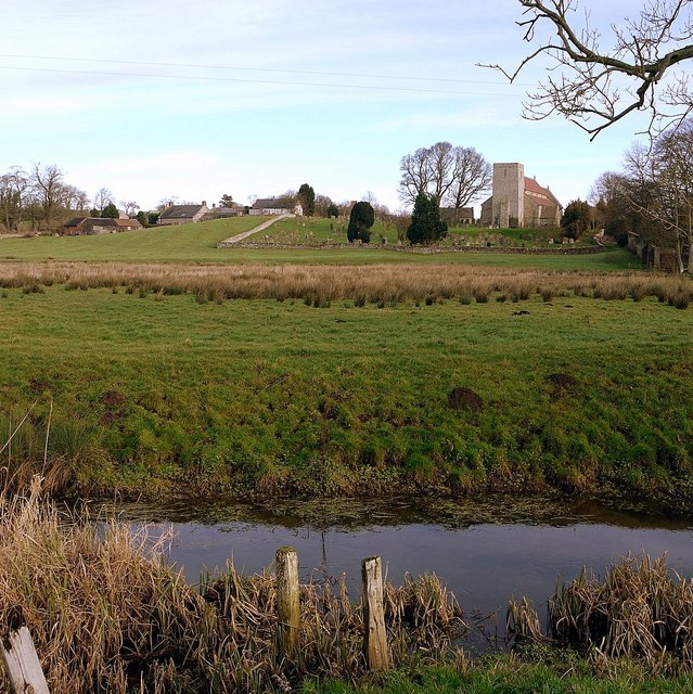 Stamfordham from the River Pont