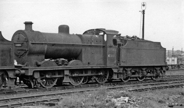 Ex-Midland Fowler 4F 0-6-0 at Kirkby Locomotive Depot