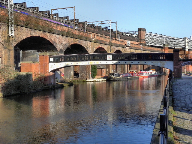 Footbridge and Viaduct, Bridgewater Canal, Castlefield