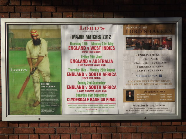 Posters at Lord's