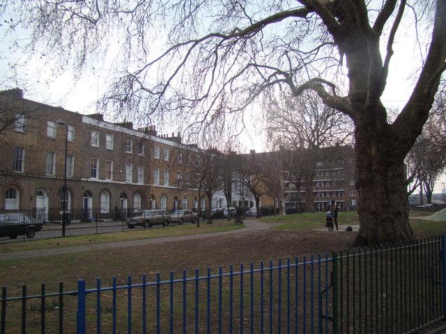 View of Martello Terrace from London Fields