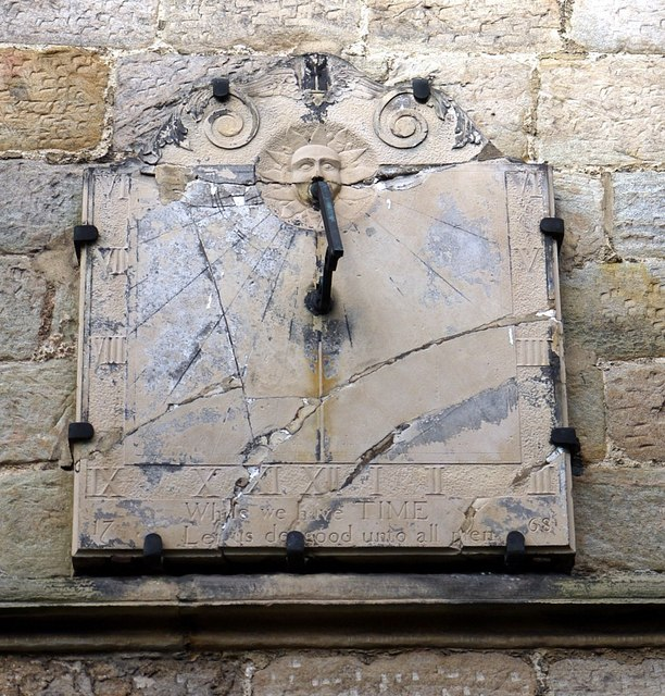Sundial on south wall of St Mary's Church