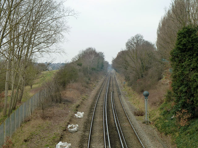 Railway towards Lee and Hither Green