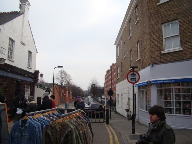 View down Jackman Street from Broadway Market
