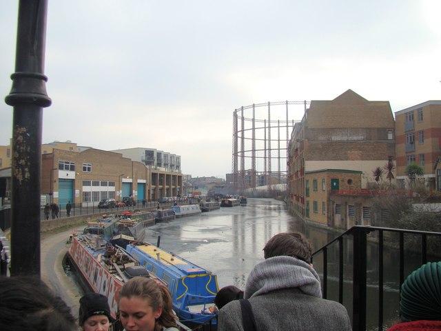 A frozen Regent's Canal