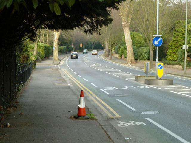 Pedestrian hazard on Sundridge Avenue