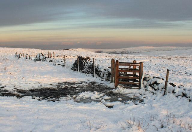 The Pennine Way at Millstone Edge