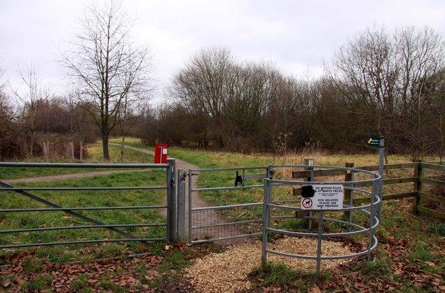 Kissing gate to Hampton Poyle