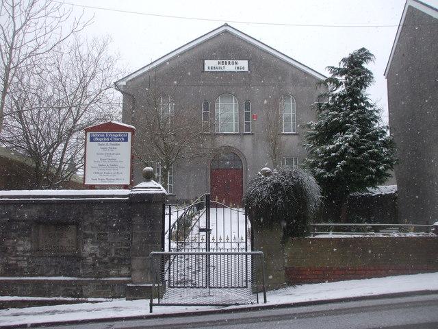 Hebron Evangelical (Baptist) Church, Caeharris