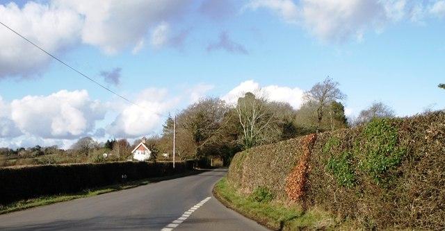 Minor road near Chapel Cross, East Sussex
