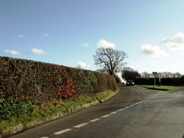Road junction south of Chapel Cross, East Sussex