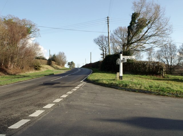 Road junction at Chapel Cross, East Sussex