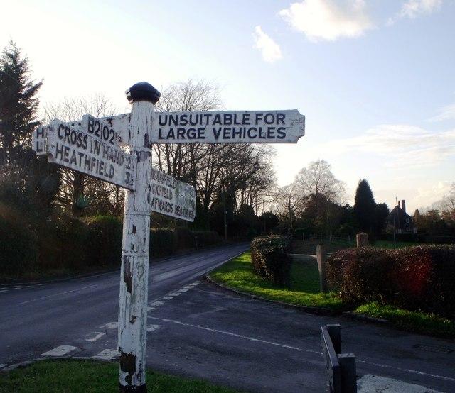 Signboard, Blackboys, East Sussex