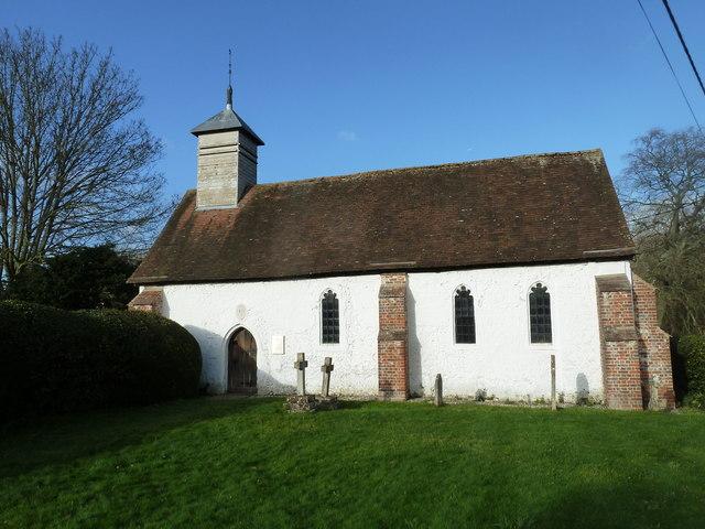 A December visit to St Nicholas Church, Freefolk (a)