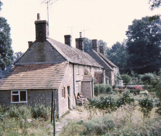 Church Lane Cottages, Rodbourne in 1974