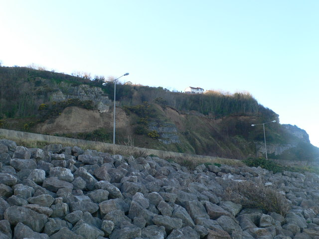 View up from the Coastal Path