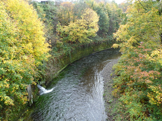 Rhondda Fawr river bends away from Princess Louise Road, Llwynypia