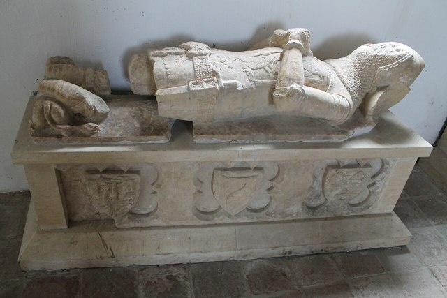 Effigy of Knight, St Peter's church. Kingerby